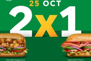2×1 de Subway– Octubre 25
