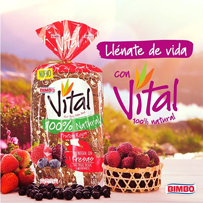 Pan Vital Bimbo 100% Natural