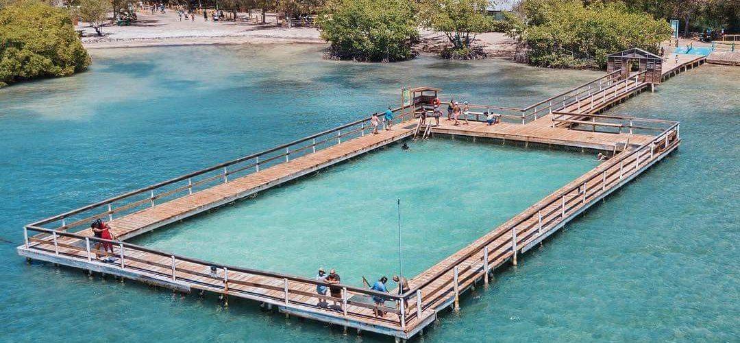 La piscina natural más grande del caribe