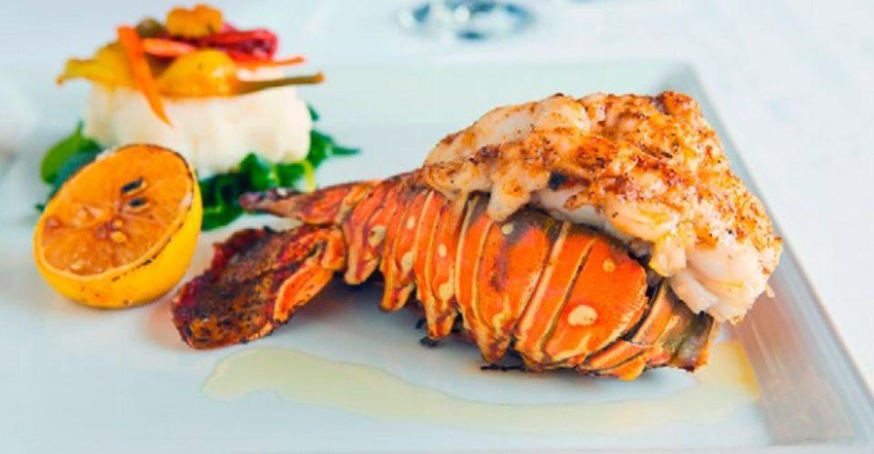 mero, langosta y camarón en ARUBA